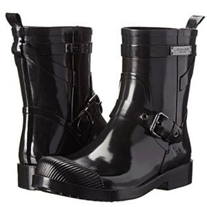 Coach—Short Black Rain Boots